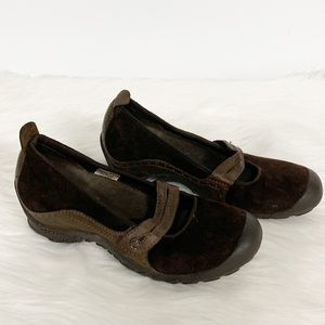 Merrell | Brown Leather Suede Maryjane Flats 7.5